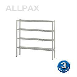 Aluminium-Regal 050 mit 4 Böden - Tiefe 600 mm