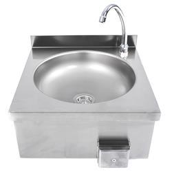 Handwaschbecken Edelstahl mit Knieschalter