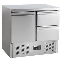 Universalkühltisch - 1 Tür & 2 Schubladen