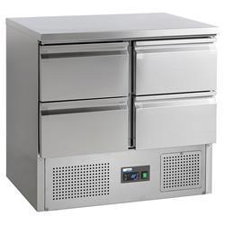 Universalkühltisch - 4 Schubladen 1/2 GN
