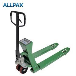 ALLPAX Hubwagen mit Waage, 4-Punkt Wägesystem 2t / 0,5 kg