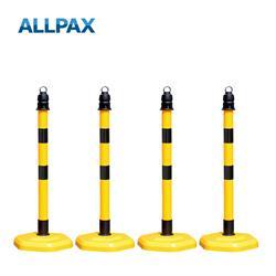Kettenpfostenset Multimax gelb mit schw. Streifen