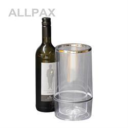 Flaschenkühler mit Chromrand, Ø  12 cm H:23 cm