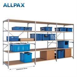 Manuflex Fachbodenregal Megaflex - Anbauregal mit 5 Fachböden Holzverbund Nr. 30 (Diagonale einfach)