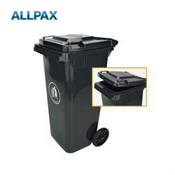 Mülltonne mit Rädern, 120 ltr.HDPE