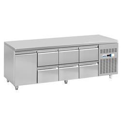 Kühltisch - 1 Tür, 6 Schubladen