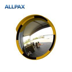 Acrylglas Beobachtungsspiegel, gelb-schwarz, Durchmesser 60 cm