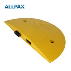 Endstück gelb  für Temposchwelle 40 km/h