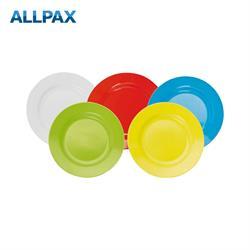 Melamin Teller - 23 cm, flach - 5 verschiedene Farben