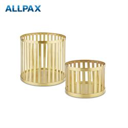 Korb/Ständer aus Metall, gold brushed