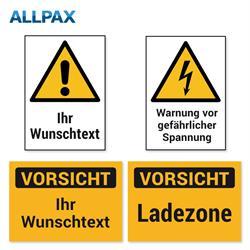 Warnschilder auf Magnet