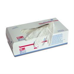 Einmal Handschuhe - Latex, puderfrei, weiss