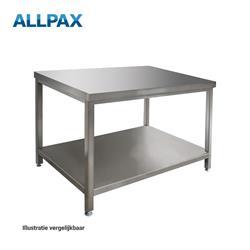 Edelstalen werktafel 800 x 700 x 850 mm, gedemonteerd