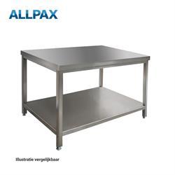 Edelstalen werktafel 1000 x 700 x 850 mm, gedemonteerd