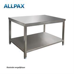 Edelstalen werktafel 1200 x 700 x 850 mm, gedemonteerd