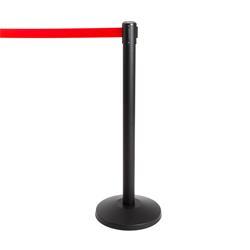 Stoppo XL afzetpaal zwart, trekband rood