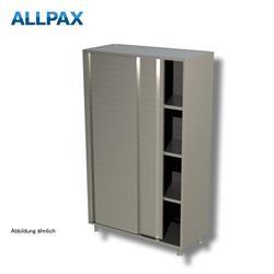 Geschirrschrank 1600 x 700 mm - mit Schiebetüren, 3 Zwischenböden