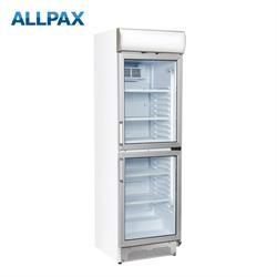 Getränkekühlschrank 390 Liter, 2 Türen, mit Werbedisplay