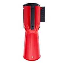 STOPPO XL Absperrband für Leitkegel 3 m, rot weiß, Kassette ABS rot