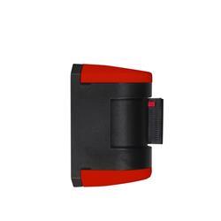 STOPPO XL Zugband Absperrung Wand schwenkbar rot 4,5 m, Kassette ABS rot schwarz