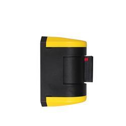 STOPPO XL Wandkassette mit Gurtband schwenkbar gelb schwarz 4,5 m, Kassette gelb schwarz