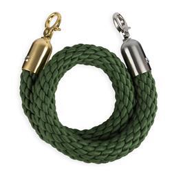 STOPPO Afzetkoord van gedraaid touw, middelgroen - op maat