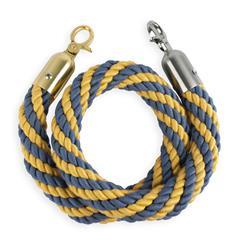 STOPPO Afzetkoord van gedraaid touw, goud-blauw - op maat