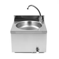 Edelstahl Waschbecken mit Knieschalter
