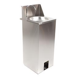 Mobiles Waschbecken Edelstahl mit Fußbedienung