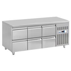 NordCap COOL-LINE Kühltisch 6 Schubladen 1/2