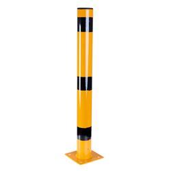 Absperrpfosten 13 x 75 x 0,3 cm gelb