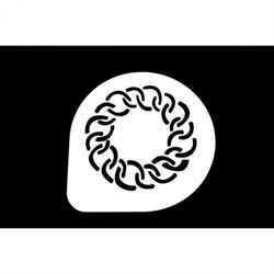 Acryl-Dekorschablone 26 cm - Kranz
