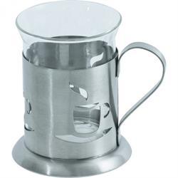 Teeglas mit Halter - Tasse - 0,2 ltr.