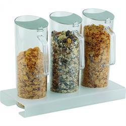 Cerealien-Bar und Ständer, 3-teilig, 3 x 1,5 ltr.