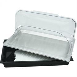 PC Schale mit Kühlakku, GN-Tablett & Klappdeckel