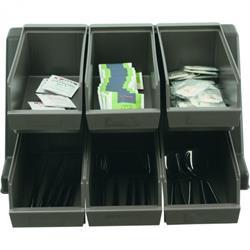 PE - Halter mit Universalboxen für das Buffett - 2 oder 4 Boxen