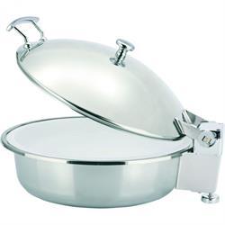 Chafing Dish für Induktionskocher, mit Porzellaneinsatz, 3,8 ltr