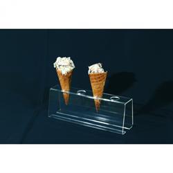 Acryl-Eistütenhalter 25 cm, 4 Löcher á 25 mm