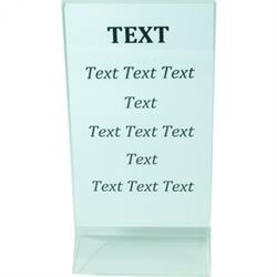 Acryl-Kartenhalter 20x10 cm, einfache Ausführung