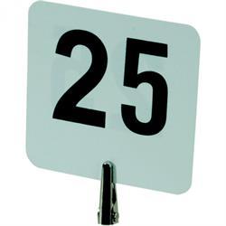 Satz Kunststoff - Tischnummernschilder   1-25