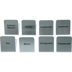 Buffett-Schilder, versch. Beschriftungen - 5 x 6,7 x 4,5 cm