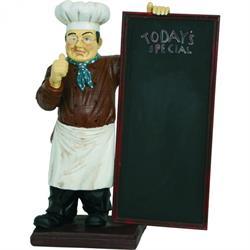 Koch mit Tafel Today's Special, vier Größen