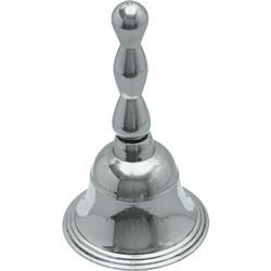 Rezeptionsglocke, verchromt - 12 cm