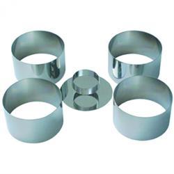 Set mit 4 Mousse Ringe, 4,5x7,5 cm & Verdichter