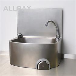 Handwaschbecken, hohe Rückwand
