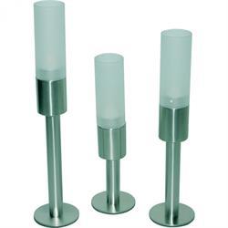 Tischleuchte für Teelicht mit Glasaufsatz, 3 Größen