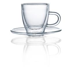 Espressotasse  inkl. Untertasse aus Glas