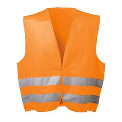 *OSKAR* POLYESTER-WARNWESTE ORANGE WICA-TEX