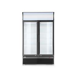Kühlschrank  mit 2 Glastüren