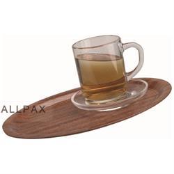 Cafè-Tablett  aus Pressholz RUTSCHFEST